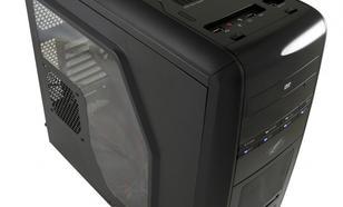 """LC-Power OBUDOWA CASE-PRO-975B """"AIR WING"""" MIDITOWER FRONT 1 X USB 3.0 2X USB 2.0 HD-AUDIO 2x120mm BLUE LED FAN BEZNARZEDZIOWA CZARNA BEZ ZAS"""