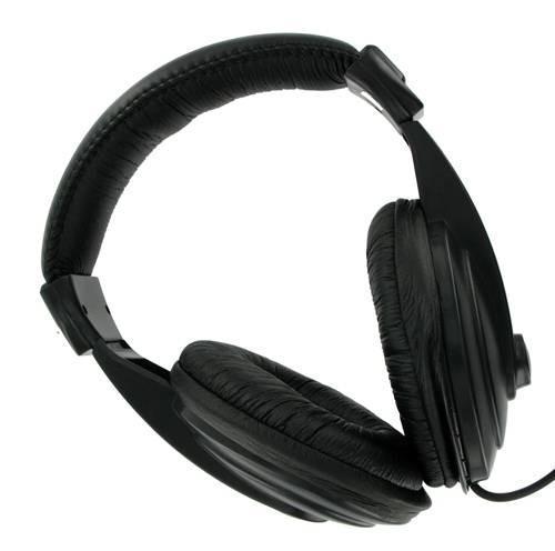 4World Słuchawki stereo z wygodnymi nausznikami 3m czarne 04164