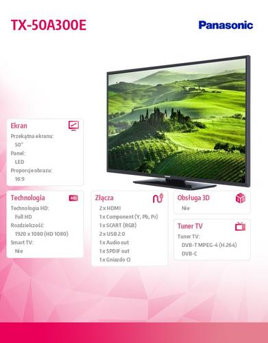 Panasonic 50'' LED TX-50A300E