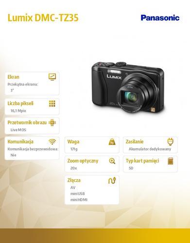 Panasonic Lumix DMC-SZ DMC-TZ35 black