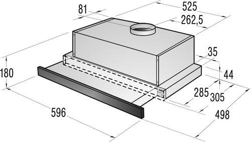 Gorenje Okap podszafkowy DKF2600MW - Typ II