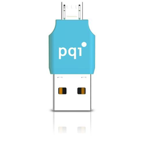 PQI CONNECT 203 microUSB / USB 2.0; NIEBIESKI