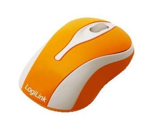 LogiLink Mini myszka optyczna do notebooka (pomaranczowa)
