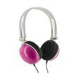 4World Słuchawki stereo pałąk różowe 06531