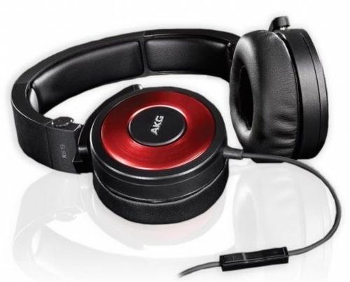 AKG K619 DJ Czerwone Słuchawki DJ z mikrofonem