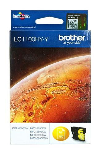 BROTHER Tusz Żółty LC1100HYY=LC-1100HYY, 750 str.