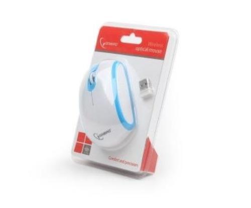 GEMBIRD Mysz bezprzewodowa Radio-Opto 2.4GHz MUSW-105-B Blue/White