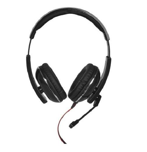 4World Słuchawki kabel 2,2m mikrofon czarno-czerwone