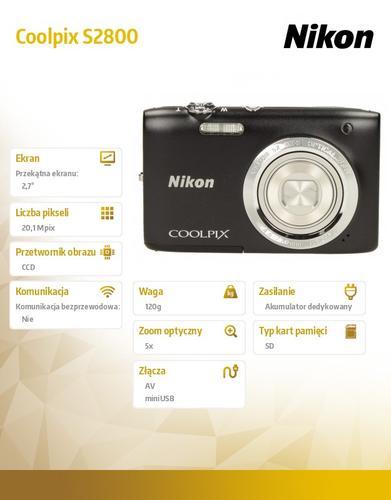 Nikon S2800 black