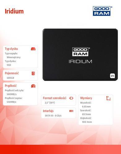 GoodRam Iridium 480GB SATA3 2,5 560/530MB/s