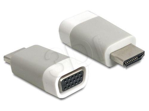 ADAPTER DELOCK HDMI-A (M) -> VGA(F) MINI ROZMIAR