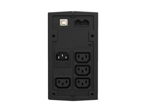 Lestar UPS MD-525 525VA/300W AVR 3xIEC + 1xIEC PRINTER USB RJ11 BL