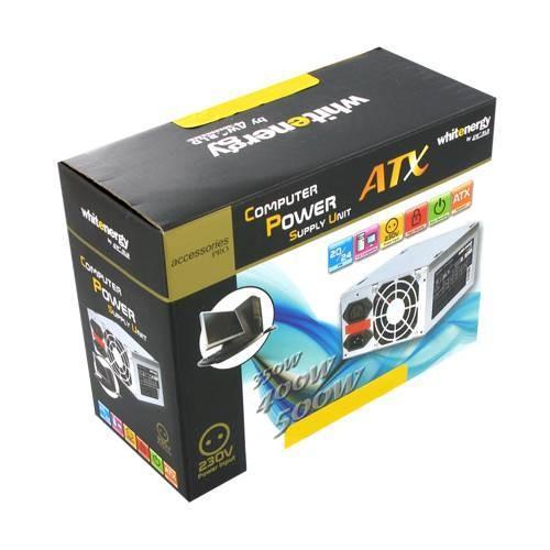 Whitenergy Zasilacz ATX 2.2 500W 120mm PFC BOX + kabel zasilający
