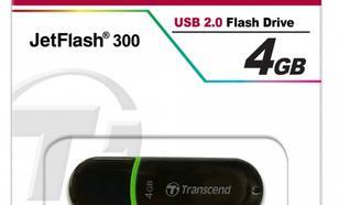 Transcend JETFLASH 300 4GB USB2.0 BLACK