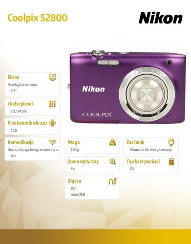 Nikon S2800 purple