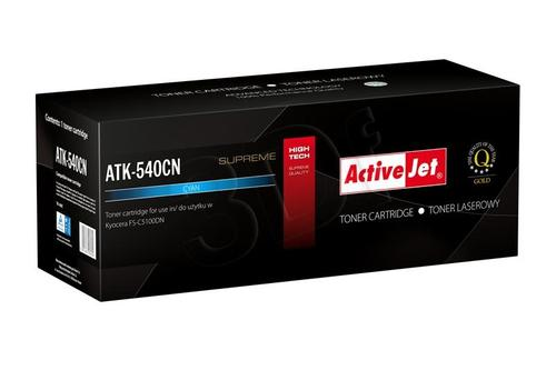 ActiveJet ATK-540CN toner Cyan do drukarki Kyocera (zamiennik Kyocera TK-540C) Supreme