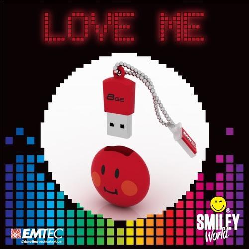 EMTEC Pendrive 8GB Smilley World Shame Red SW102