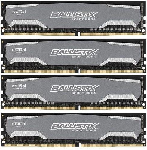 Crucial DDR4 Ballistix Sport 32GB/2400(4*8GB) CL16-16-16-16 DRx8