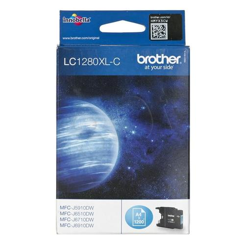 BROTHER Tusz Niebieski LC1280XLC=LC-1280XLC, 1200 str.