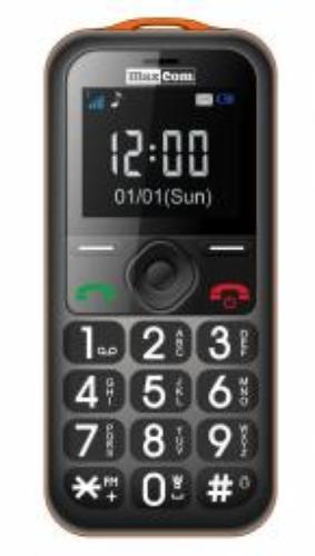 Maxcom MM 560 BB Poliphone/Big button pomarańczowo czarny (MAXCOMMM560BBORANGE)