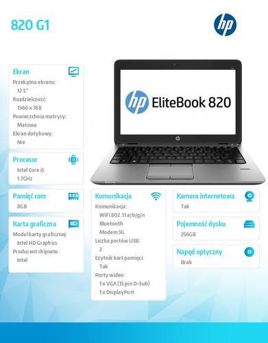 HP 820 G1 i5-4210U W78P 256SSD/8G/12,5 F1Q95EA