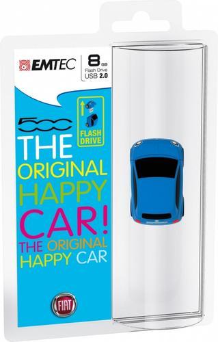 EMTEC Pendrive 8GB Fiat 500 Blue F101