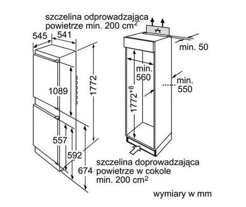 Siemens KI38VA20 Chłodziarko-zamrażarka
