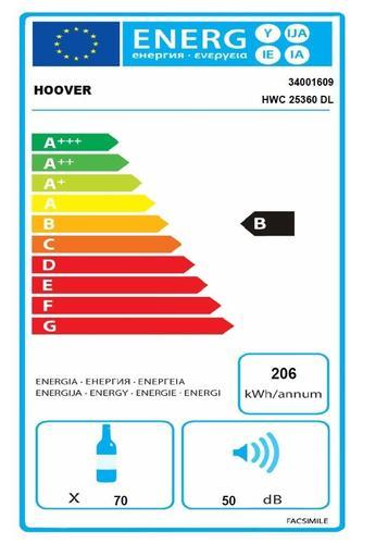 Hoover HWC 25360DL chłodziarka do wina