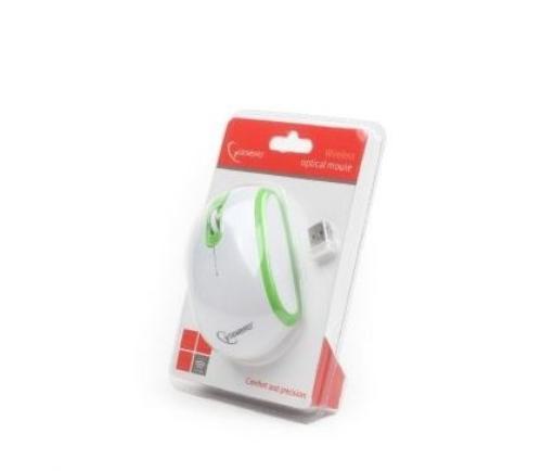 GEMBIRD Mysz bezprzewodowa Radio-Opto 2.4GHz MUSW-105-G Green/White