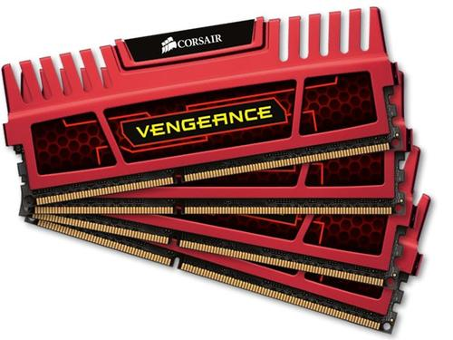 Corsair DDR3 VENGEANCE 32GB/1866 (4*8GB) CL10-11-10-30 Red