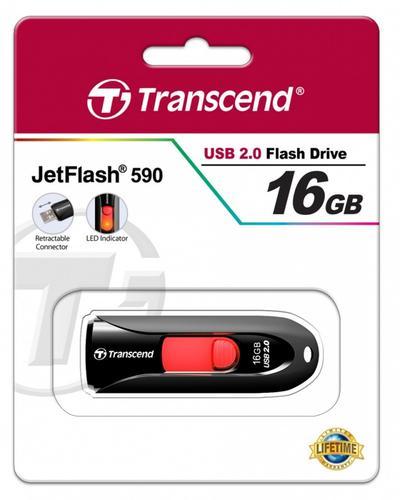 Transcend JETFLASH 590 16GB USB2 BLACK