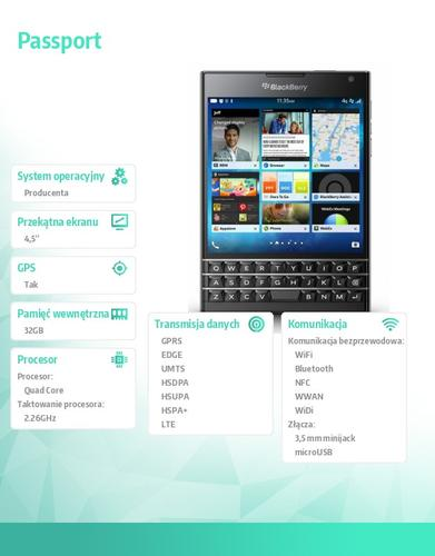 Blackberry Passport Czarny