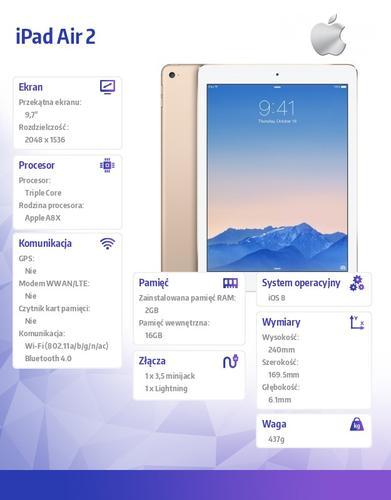 Apple iPad Air 2 16GB Wi-Fi Gold MH0W2FD/A