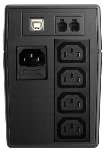 Lestar UPS V-855 AVR LCD GF 4xIEC USB RJ 11