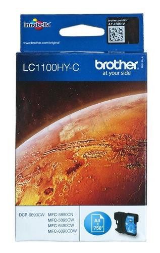 BROTHER Tusz Niebieski LC1100HYC=LC-1100HYC, 750 str.