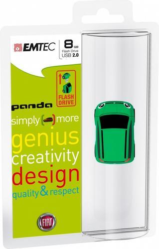 EMTEC Pendrive 8GB Fiat Panda Green F103
