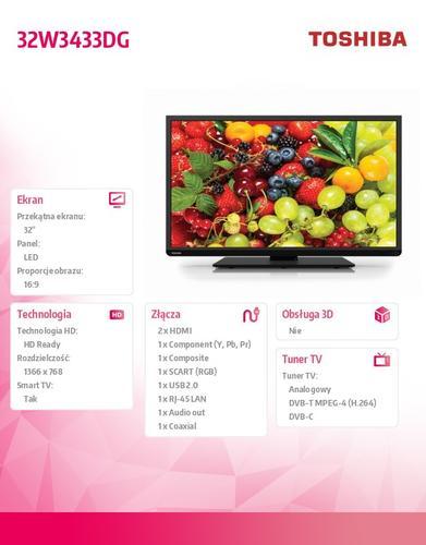 Toshiba 32'' LED 32W3433DG
