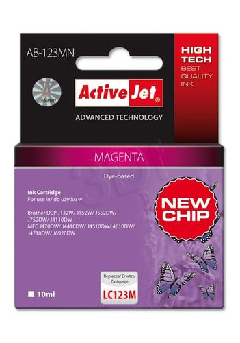 ActiveJet AB-123MN tusz magenta do drukarki Brother (zamiennik Brother LC123M) Supreme