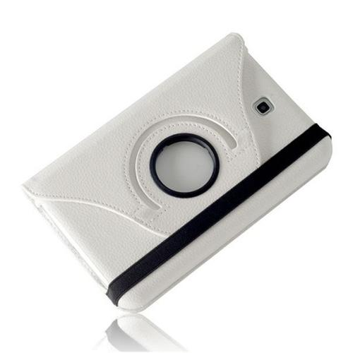 """WEL.COM Etui obrotowe 360° Galaxy Tab 3 7"""" T210/T211 białe"""