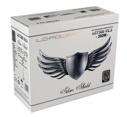 LC-Power ZASILACZ 300W LC7300 SILVER SHIELD 80+ SILVER V 2.3 120mm White Fan 4x SATA 2x PATA 1x PCIe EPS Active PFC WHITE