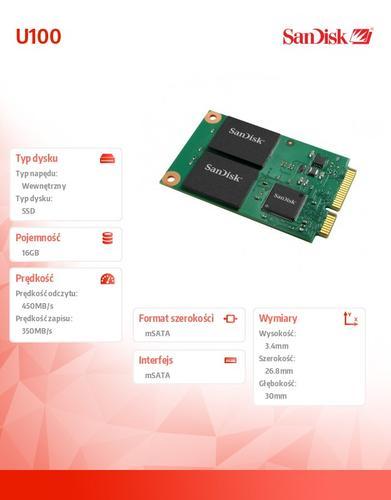 SanDisk SSD mSATA mPCIe MLC 16GB