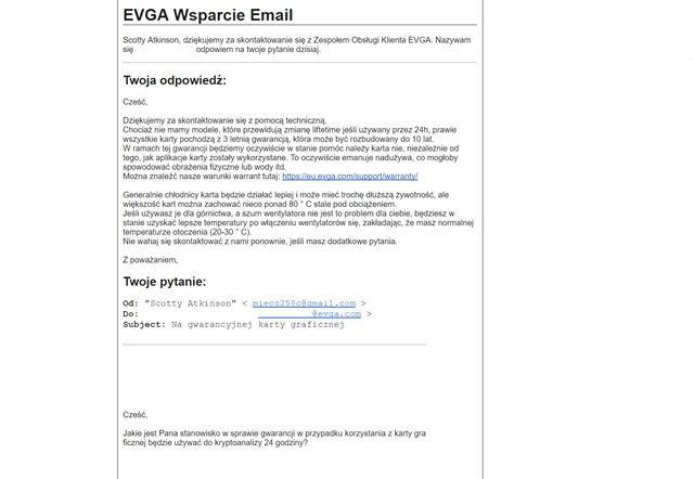 Karty Graficzne, Kopanie Kryptowalut, odpowiedź EVGA