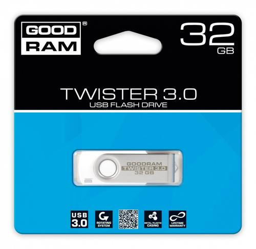 GoodRam TWISTER WHITE 32GB USB3.0