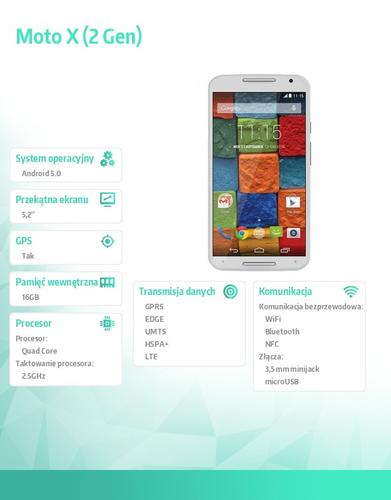 Motorola Moto X 2nd. Gen 16GB Bamboo White