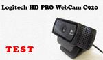 Logitech HD Pro Webcam  C920 test kamerki internetowej FullHD [TEST]
