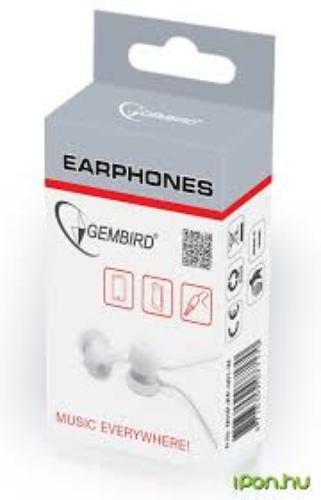 GEMBIRD Słuchawki douszne MHP-EP-001 3,5mm jack 90cm Białe