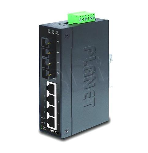 PLANET ISW-621 Przemysłowy Switch 4p. 10/100Mbps