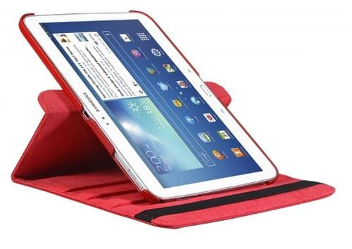"""WEL.COM Etui obrotowe 360° Galaxy Tab 3 10"""" P5200/P5210 czerwone"""