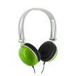 4World Sluchawki stereo pałąk zielone 06533