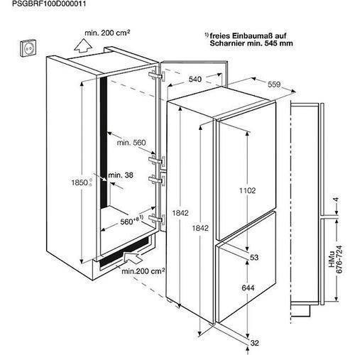 Electrolux Chłodziarko-zamrażarka ENN3153AOW